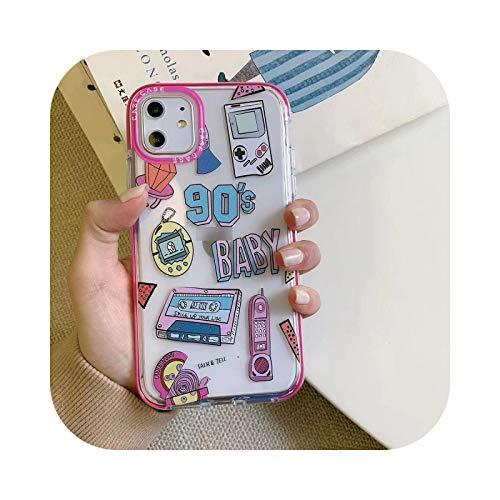 Funda para iPhone 12 Mini, Corea, a la moda, impresión de letra