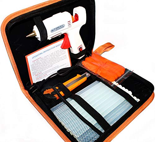 Hot Melt Glue Gun Kit 60W/100W with Carry Bag and 20 pcs Glue Sticks, for DIY, Arts & Crafts...