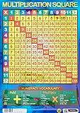 Sumbox Educational Times Poster éducatif avec tables de multiplication