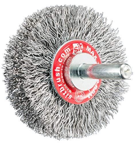 SIT Tecnospazzole 0217 Spazzola per Trapano a Filo Ondulato in Acciaio-GG 73 in Blister-Ø: 70mm, Ø=70 mm