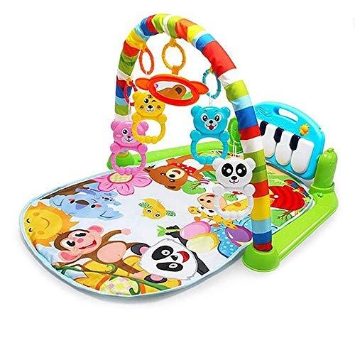 LHNEREGLHNEREG Gimnasio con Piano para Bebés 2 En 1 con Centro De Actividades, Tapete para Bebés Kick and Play para Educación Infantil, Regalo para Niños