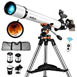 BOBLOV Astronomical Telescope,Telescope for Adults,Kids, 700x70mm Astronomical Refractor with Adjustable Tripod, 5x24 Infrared Optical Viewfinder Phone Adapter for Adults,Kids,Professional, Amateur