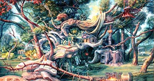 Doyjab Puzzles Familiar 1000 Piezas Puzzles Pendiente del Asistente del Paisaje De Madera para Adultos Color Pintura Abstracta Puzzles para Niños Juguete Educativo Regalo 50x75cm
