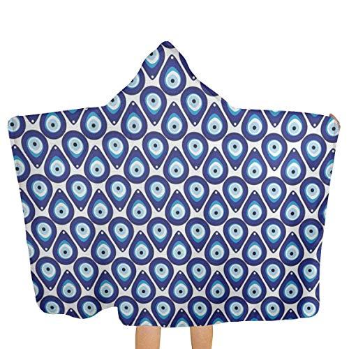 qisile Badetuch Water Drops Inspired Shape Up Hooded Beach Towels,Pool Bath Towel Soft Microfiber Multi-Purpose Poncho Swim Cover Changing Robe Fun Multi-use for Bath Shower Pool Swim 32x52 Inch Kid
