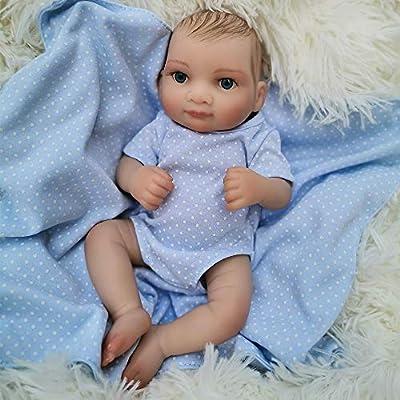 "OtardDolls Small 10"" Soft Vinyl Reborn Doll Lifelike Baby Newborn Dolls Children Gifts"