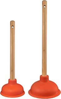 Nirox Set van 2 Gootsteenontstopper - Afvoerontstopper 110 & 140 mm - Toiletontstopper met sterke zuigprestaties - Loodgie...