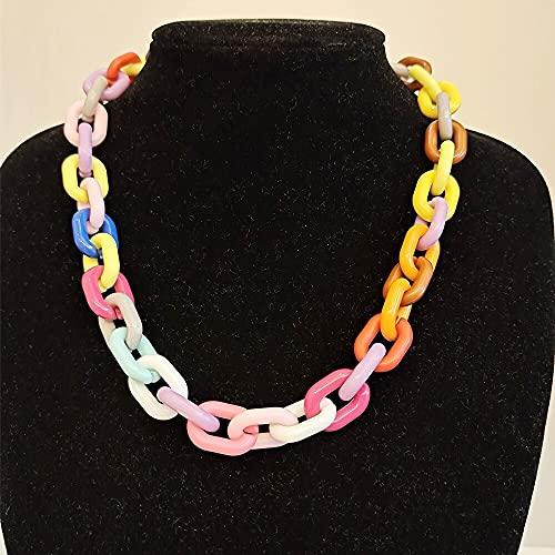 Mano Pulseras Brazalete Joyería Mujer Collar De Moda Multicolor De Color Caramelo para Mujer, Collar De Gargantilla De J