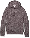 Amazon Brand - Goodthreads Men's Supersoft Marled Pullover Hoodie Sweater, Burgundy Large