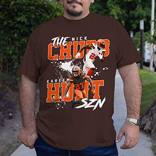 The Nick-24 Kareem-27 Cleveland-Football Jersey RB Chubb-Running Back Hunt-Fans Customized Handmade Unisex T-Shirt   Long Sleeve T-Shirt   Hoodie   Sweater