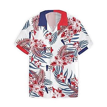 Iowa Pround Hawaiian Shirts for Men - Country Pride Button Down Mens Hawaiian Shirts Short Sleeve Series 61 Size 4XL