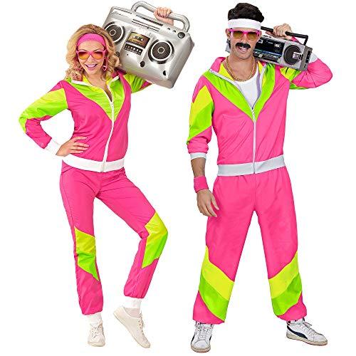 Widmann 98814 - Kostüm 80er Jahre Trainingsanzug, Jacke und Hose, angenehmer Tragekomfort, Assi Anzug, Proll Anzug, Retro Style, Bad Taste Party, 80ties, Karneval