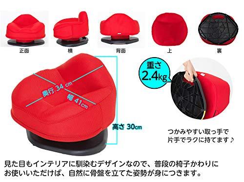 東急スポーツオアシス骨盤スリムチェアDX(デラックス)座椅子360度腰回りエクササイズ揺らす運動器具姿勢サポートSC-200レッド