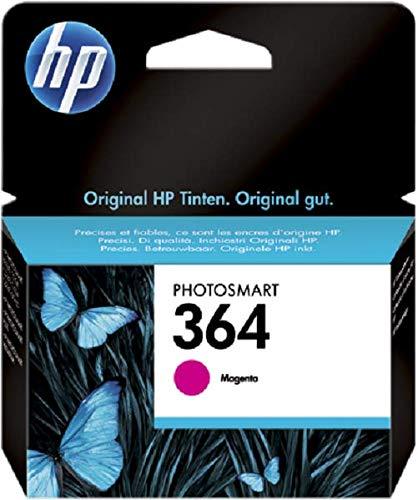 HP 364 CB319EE Cartuccia Originale, 300 Pagine, per Stampanti a Getto di Inchiostro Photosmart B210c, B110c, B110e, B8550, 7520, Deskjet 3520, 3522, 3524, Magenta