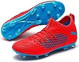 Puma Future 19.3 Netfit FG/AG, Zapatillas de Fútbol para Hombre, Rojo (Red Blast-Bleu Azur), 42 EU