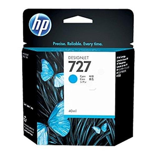 HP Original–HP–Hewlett Packard Designjet T 2500Series (727/b3p13a)–Cartucho de tinta Cian–40ml