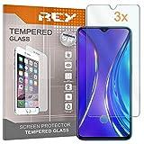 3X Protector de Pantalla para REALME X2 - REALME XT, Cristal Vidrio Templado Premium
