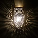 Aplique de olivo antipatina 39 cm de diseño oriental de Marruecos lámpara oriental para cocina, salón o dormitorio