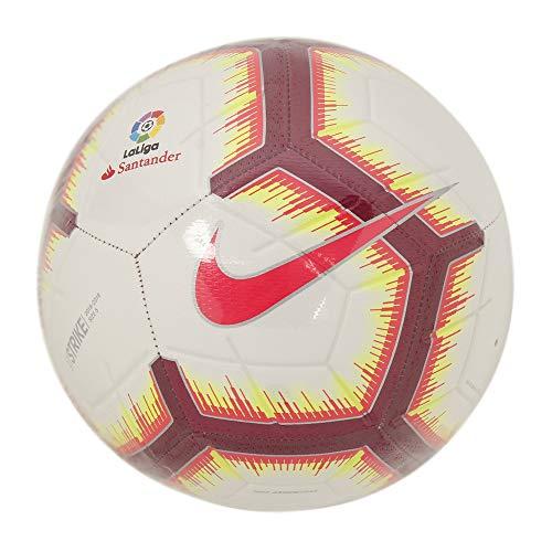 Nike Ll Nk Strk-Fa18, Pallone Uomo, White/Pink Flash/Team Red/Team Red, 5