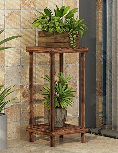 WSSF- Européenne Unique Fleur Stand Salon Balcon Simple Solide Bois Fleur Pot Étagère Multicouche Coin Vert Plantes Affichage Taille Du Stand En Option (taille : 28 * 28 * 60cm)