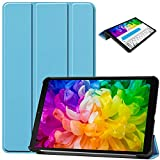 DETUOSI Case for LG G Pad 5 10.1' Case 2019,【Multi-Angle】 PU Leather Slim Folding Ultrathin Protective Case Magnetic Trifold Stand Case Cover for LG GPad 5 10.1 Inch Tablet (2019 Release),Sky Blue