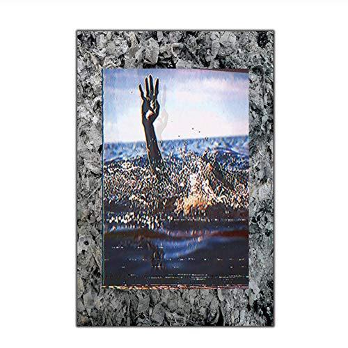 Rap Pictures Maxo Kream Singer Music Art Silk Poster Gift Canvas Decoración para el hogar Decoración de la Imagen de la Pared Imprimir en lienzo-50x70cm Sin Marco