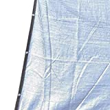 Garden Sun Shading Net 75-80% Aislamiento De Papel De Aluminio Reflectante Protector Solar UV para Cubierta De Flores De Invernadero (TamañO: 1m Y Veces; 6m (3ftx20ft))