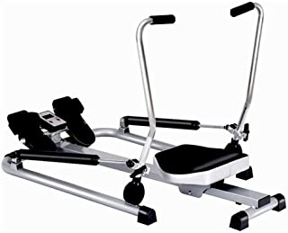 Rowing Machine Foldable, Hydraulic Rower Trainer Workout Machine for Home, Resistance Adjustment, with LCD Display, Maximu...