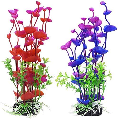JJDSN 2 Stück Hübsche künstliche stilvolle lebensechte gefälschte Pflanzen Unterwasserpflanze Seegras für Aquarium Aquarium sichere Dekorationen