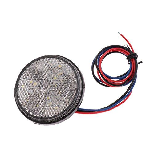 MagiDeal Feux Clignotant de LED Rond,Feux Arrière Réfléchissants de Voiture - Blanc