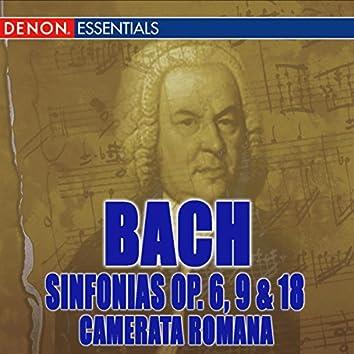 Johann Christian Bach: Sinfonias Op. 6, 9 & 18