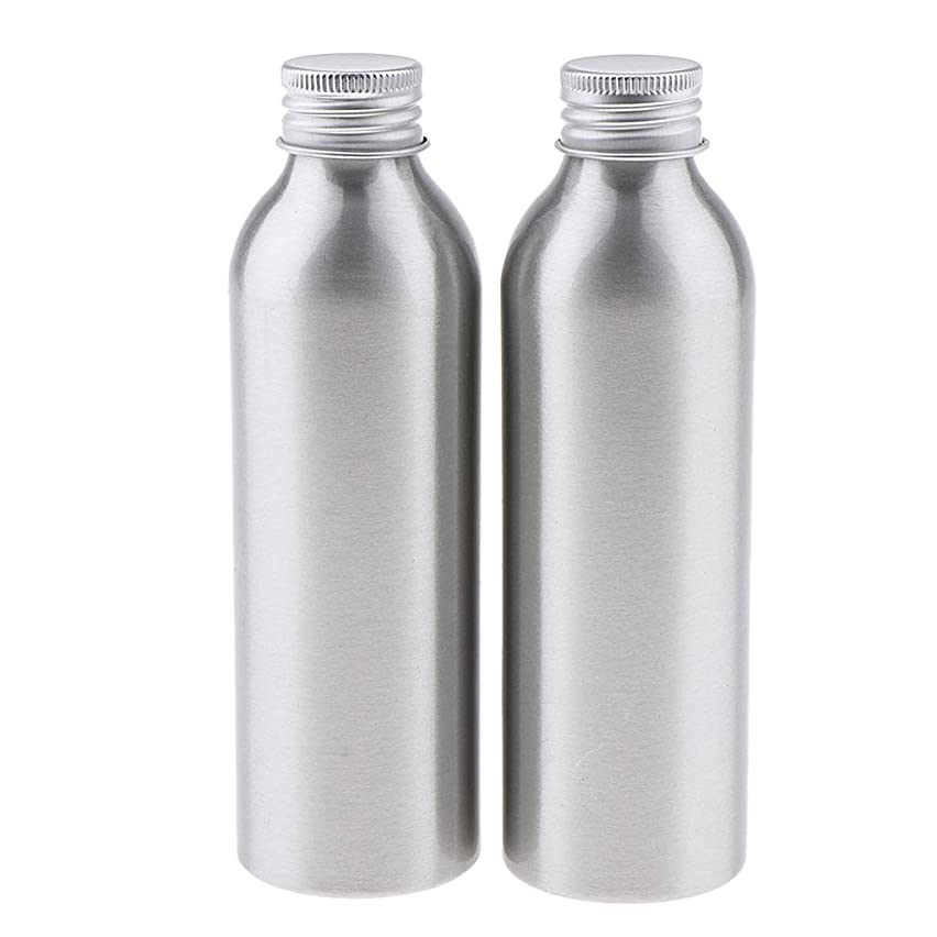 毛布いたずら信号DYNWAVE 2本 アルミボトル 空容器 化粧品収納容器 ディスペンサーボトル シルバー 全5サイズ - 150ml