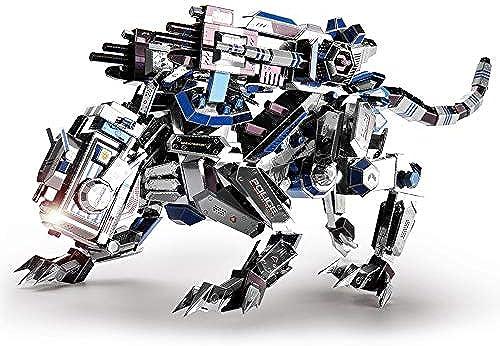 GJQASW 3D Puzzle, mechanische Polizei Hund 3D Metall Puzzle Handwerk Modell Kinder Stereo manuelle Montage Metall Material Struktur Pr sion Bewahrung dauerhaft