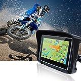 Motocicleta de navegación de navegación por satélite GPS de 4,3 Pulgadas de Coches a Prueba de Agua IPX7 / Moto Bluetooth GPS con 8 GB Flash for Moto de la Motocicleta + Mapas Gratis