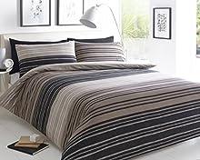 Sleep Down Super King - Juego de funda nórdica y funda de almohada (algodón), color Marrón