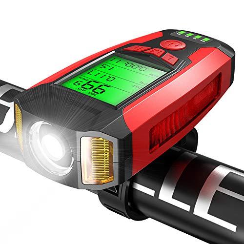 Luz Bicicleta Recargable USB,luces bicicleta delantera y trasera con 5 Modos con 360 Lúmenes,IPX5 Impermeable,Luz Bicicleta para Carretera y Montaña-Seguridad para la Noche