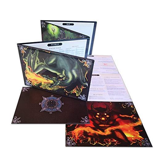 Doctor Frikistein Summoning Dungeon Master Screen | Schermo Versatile, Personalizzabile, Dry-Erase per Giochi di Ruolo