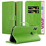 Cadorabo Hülle für HTC Desire 10 PRO in Gras GRÜN – Handyhülle mit Magnetverschluss, Standfunktion & Kartenfach – Hülle Cover Schutzhülle Etui Tasche Book Klapp Style