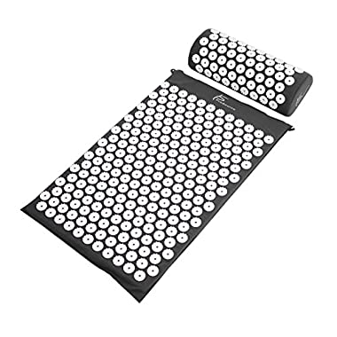 ProSource Acupressure Mat and Pillow Set for Back/Neck Pain Relief and Muscle Relaxation