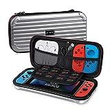 Alfheim Custodia per Nintendo Switch Trasporto Portatile Guscio Rigido Copertura Protettiva per Switch Console Joy Cons Giochi Accessori, Argento