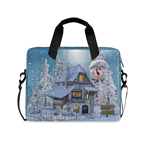The Occasion of Christmas Laptop Shoulder Messenger Bag with Strap for 15.6 inch 16 inch Laptop Travel-Friendly Briefcase Notebook Computer Sleeve Case