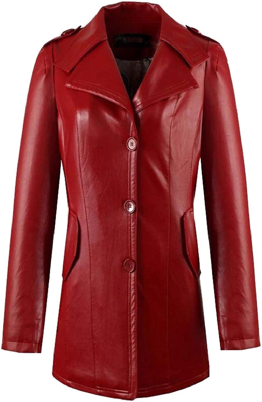 GAGA Women Autumn Hooded Faux Leather Jacket Hat Detachable Motorcycle Jacket
