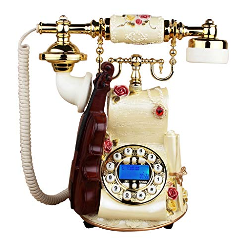 Interfono telefónico antiguo de cuerda. Teléfono residencial antiguo - pulsador y teléfono rotatorio - teléfono retro con cable - teléfono decorativo retro - teléfono fijo residencial y teléfono de of