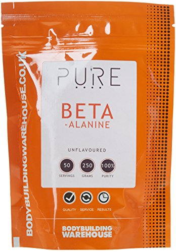 Bodybuilding Warehouse Pure Beta Alanine Powder - Amino Acid Supplement -...