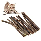 The Fellie Cat Chew Stick, 10pcs Chew Toys Catnip Toy Cat Dental Chews For Teeth Cleaning (Silvervine)