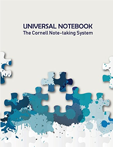 Universal Notebook: The Cornell Note-taking System, 100 Cornell pages, US Letter Format (8.5