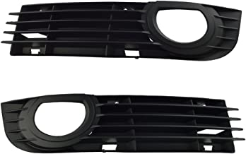 runmade ABS Front Lower Fog Light Bumper Grilles for 2006 2007 2008 Audi A8 Quattro Driver & Passenger Side (Black, Pack of 2)