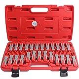 CCLIFE 25tlg ISO Stecker Entriegelungswerkzeug Set Auspinwerkzeug Auspin Entriegelung KFZ Lösen Werkzeug