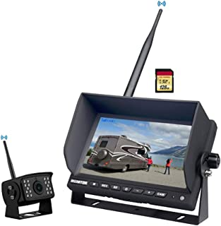 """Wireless Backup Camera Kit,Rear View Camera 1080P with 7"""" HD LCD Monitor, Reverse Cam System Can Work as Dash Cam,Wide Vie..."""
