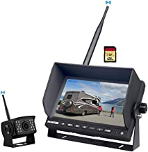 "$149 » Wireless Backup Camera Kit,Rear View Camera 1080P with 7"" HD LCD Monitor, Reverse Cam System Can Work as Dash Cam,Wide Vie..."