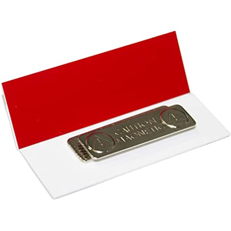 10 Pack Red Oval Name Badge Blanks with Pin